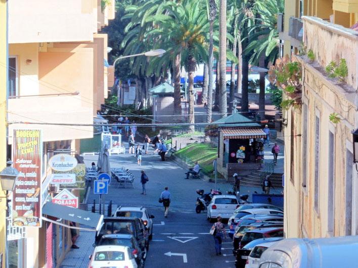 Blick auf die Plaza de Charco