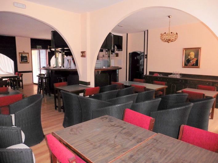 Blick vom hinteren Eingang zum Restaurant