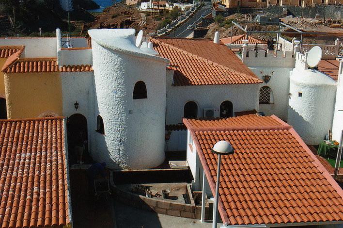 Ansicht der Villa von Oben