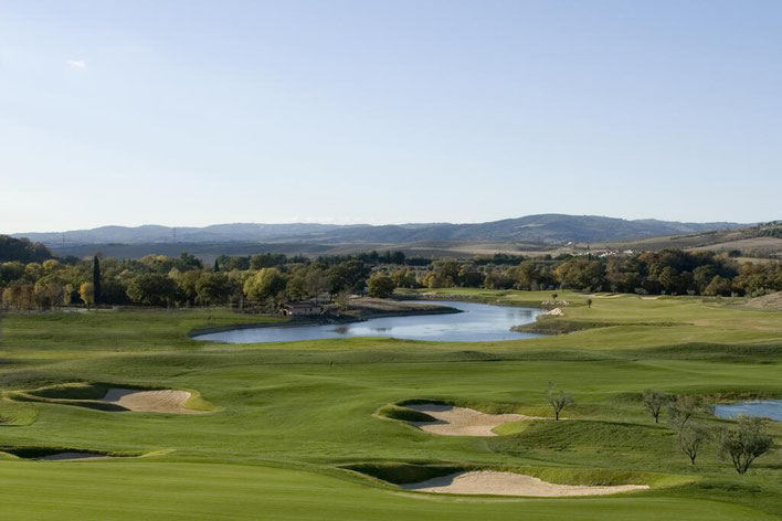 Golfreise Italien Golfpaket Golf Ferien Reisen Golfhotel Royal La Bagnaia edel Luxus Ruhe Spa Wellness