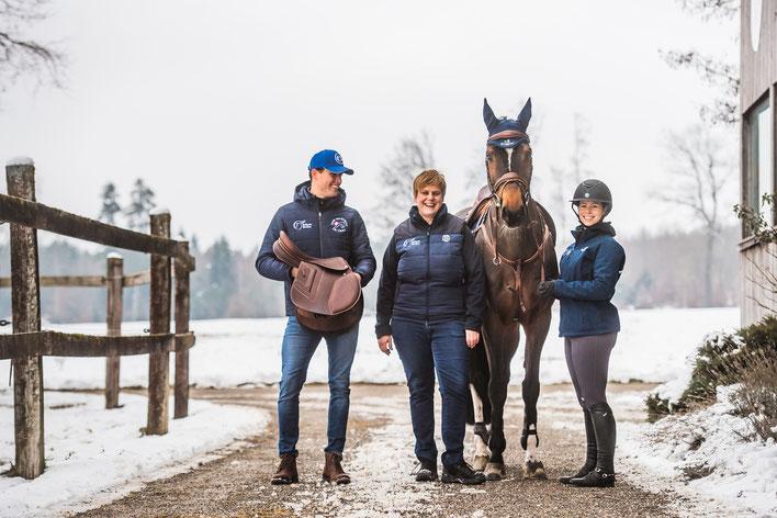 Thierry Stämpfli, Patricia Rochat und Nicole Guillebeau
