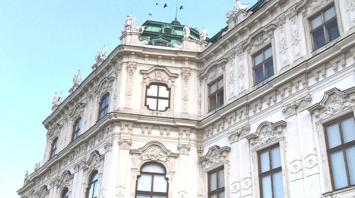 ベルヴェデーレ宮殿でクリムト