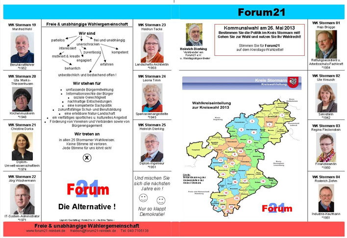 Prospekt Kreiswahl 2013