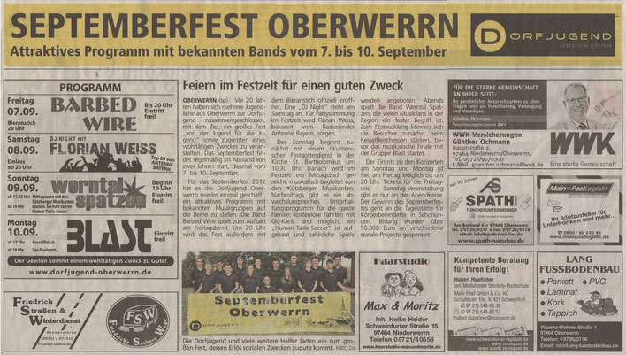 06.09.2012 Schweinfurter Tagblatt