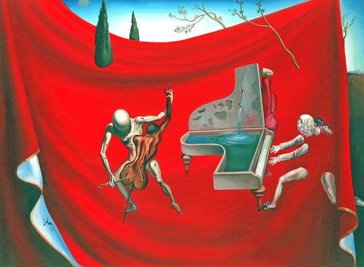 Музыка, семь живых исккусств - Сальвадор Дали (Красный орекстр)