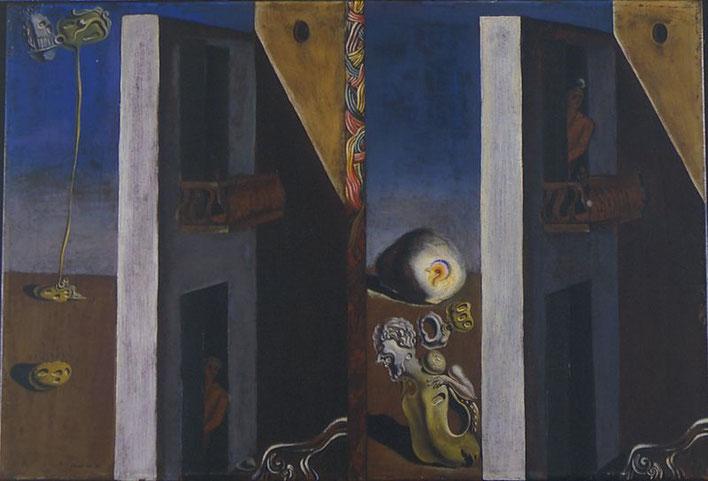 Два балкона - картина Сальвадора Дали