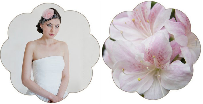 Haarschmuck und Fascinator in rosa für Ihre Hochzeit in rosa.