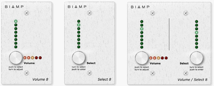 AudiaFLEX, volume8, select8, volume/select8, biamp
