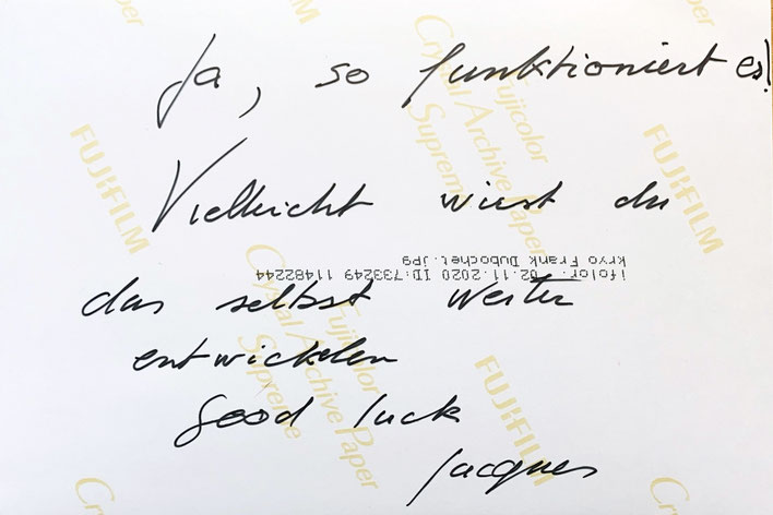 Autograph Jacques Dubochet Autogramm