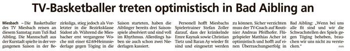 Artikel im Miesbacher Merkur am 13.10.2018 - Zum Vergrößern klicken