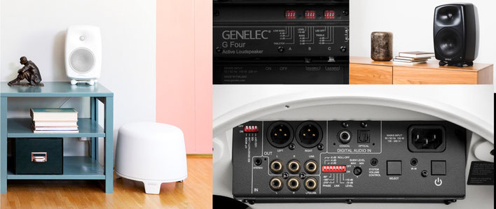 Genelec G Three, Caisson de basses F Two - Genelec G Four