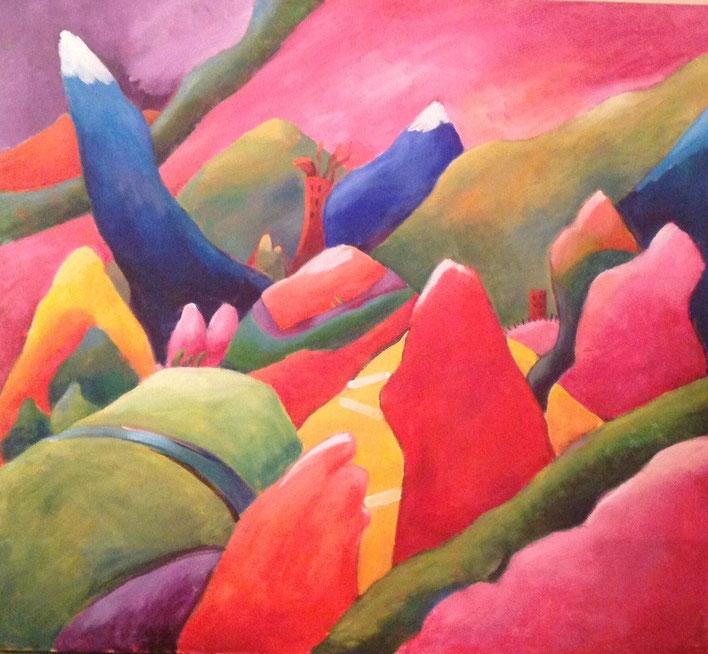 Fantasy Landscape  36 x 40  SOLD