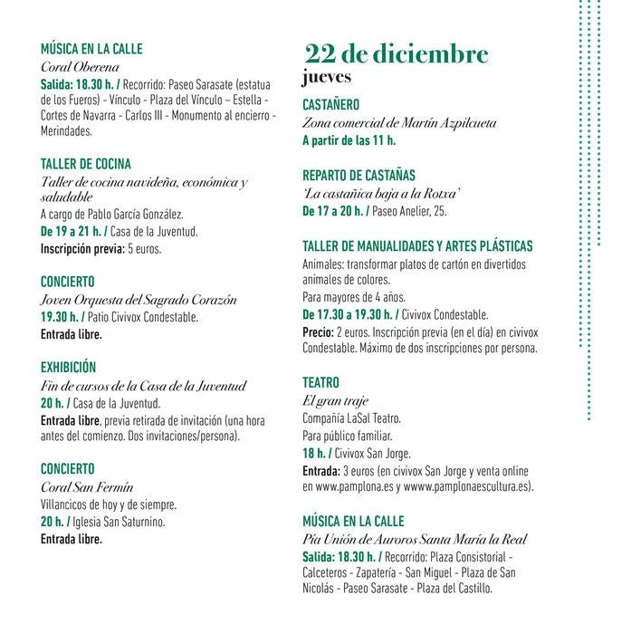 Navidad en Pamplona Programa