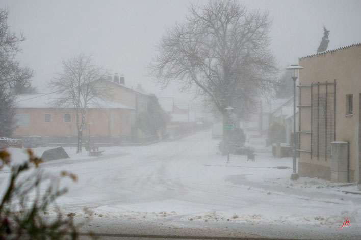 Schneesturm in Mannsdorf