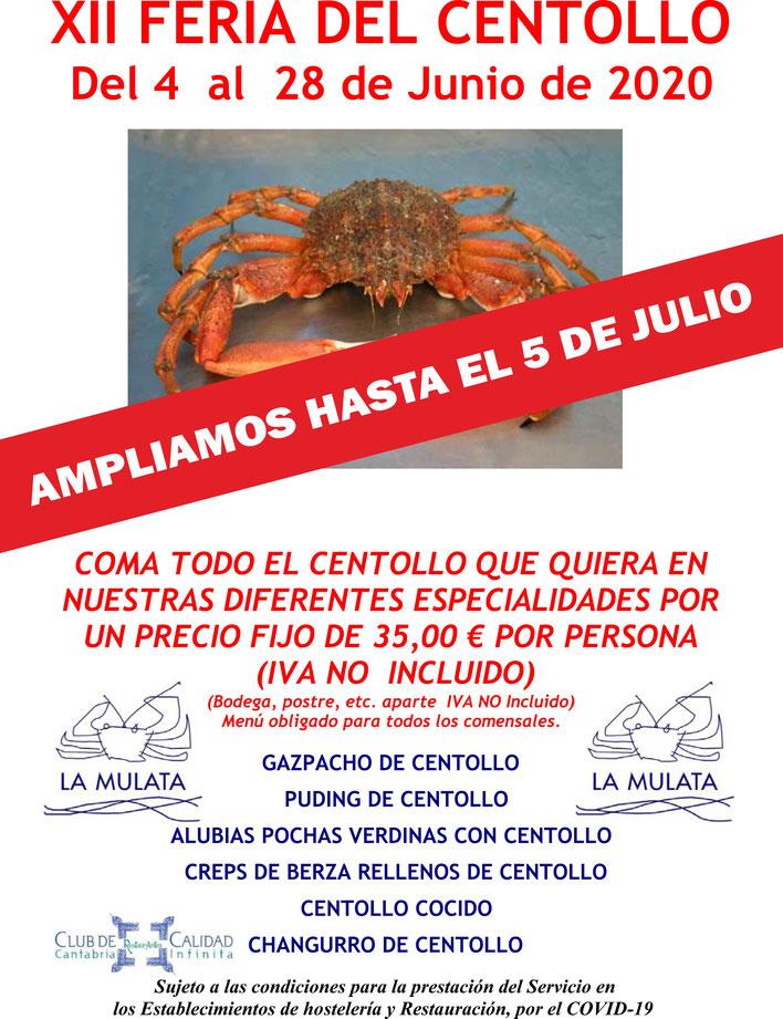 Feria del centollo 2020 la Mulata Santander