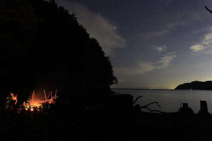この日は夜空が綺麗で流れ星もけっこう見れました✨