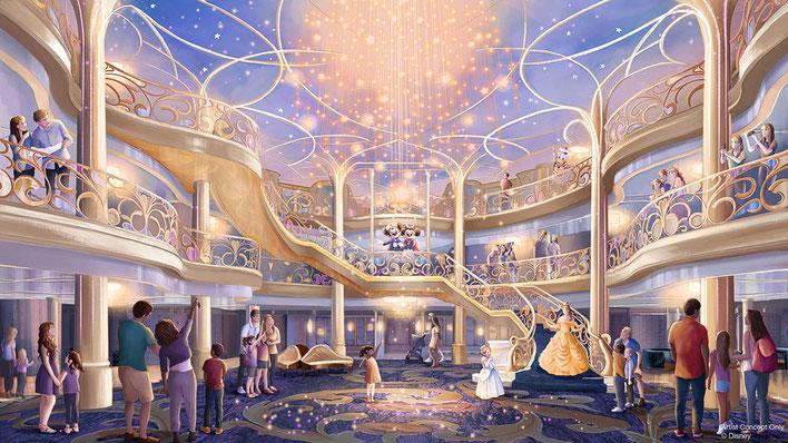Disney Wish Atrium