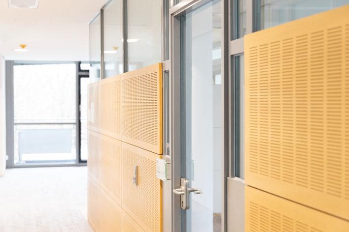 Tür Büro Flur Türgriff Schließanlage Holz Glas Bürotür Mainz