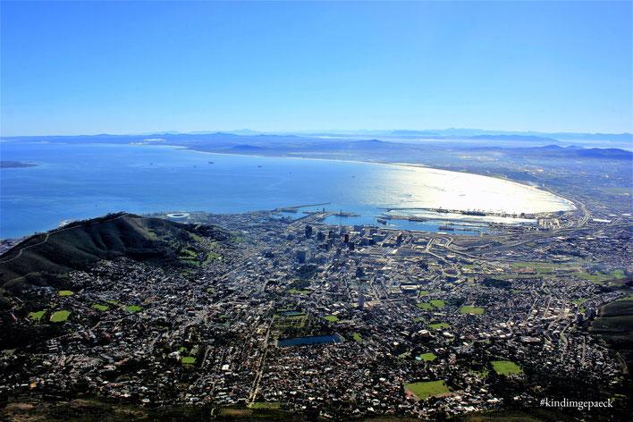 Fantastischer Blick auf Kapstadt vom Tafelberg aus.