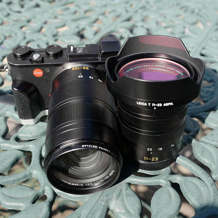 LeicaCL+ Leica (ライカ) スーパー・バリオ・エルマーTL 11-23mm F3.5-4.5 ASPH.  &  Leica (ライカ) アポ・バリオ・エルマーTL 55-135mm F3.5-4.5 ASPH.
