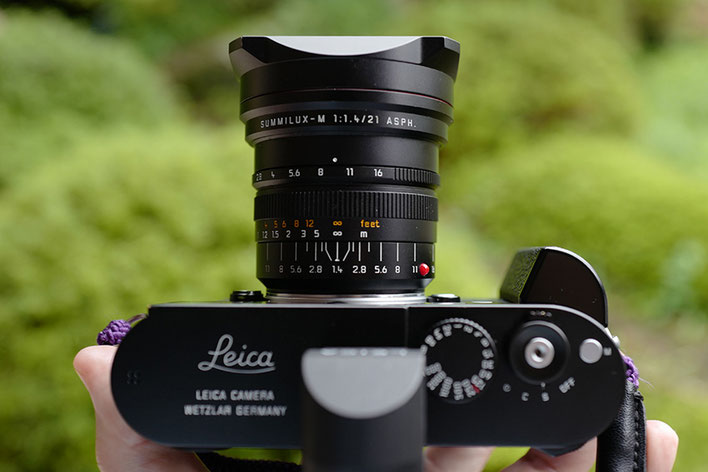 Leica M-P type 240 Summilux 21mm F1.4 Compare F Stops