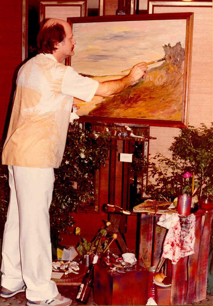 Pedro Meier Exhibition »Scenes of Thailand« 1986 – Narai Gallery – Opening speech by Mr. André Regli Embassy of Switzerland Bangkok (zz. Schweizer Botschafter in Brasilien - Swiss Embassy Brasilia) – Swiss Society Bangkok – © Pedro Meier Niederbipp – Bern