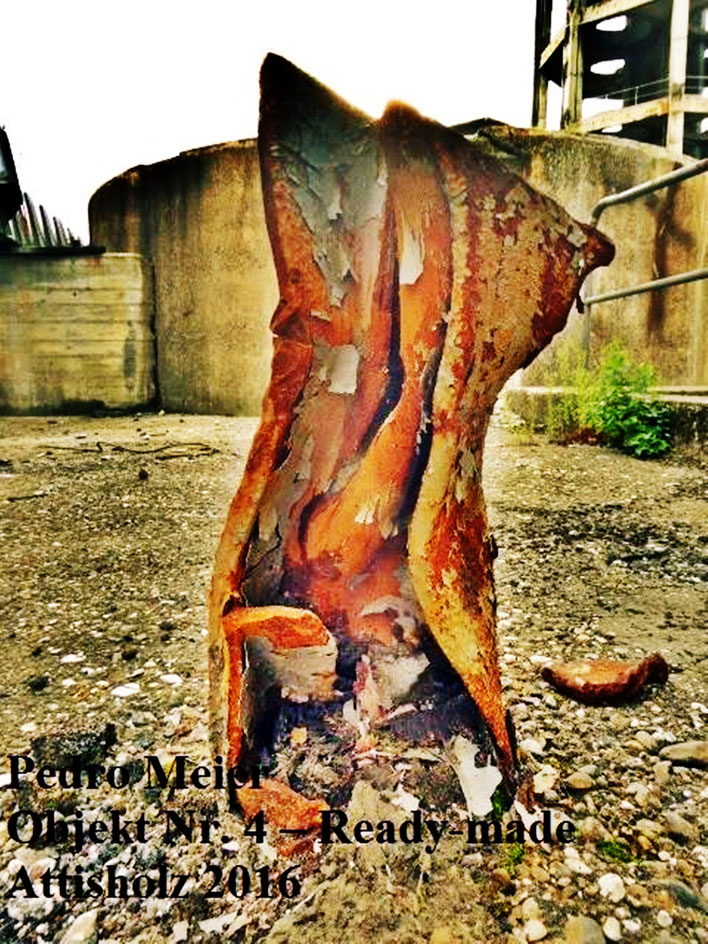 Pedro Meier – Skulptur Nr. 4 – ArtCampus recording Attisholz Solothurn. Minotaurus Projekt – Ready-made Skulpturelle Positionen. Photo 2016 © Pedro Meier/ProLitteris Zürich Multimedia Artist, Bangkok Art-Group. Gerhard Meier-Weg Niederbipp Bern Oberaargau