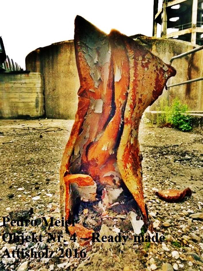 Pedro Meier – Skulptur Nr. 4 – ArtCampus recording Attisholz Solothurn. Minotaurus Projekt – Readymade Skulpturelle Positionen. Photo 2016 © Pedro Meier/ProLitteris Zürich Multimedia Artist, Bangkok Art-Group. Gerhard Meier-Weg Niederbipp Bern Oberaargau