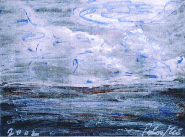 Pedro Meier – Grönland LandArt Projekt – Auf dem Weg zum Kangerlussuaq Eiscap – Öl auf Papier Nr. 05 2002 – Foto © Pedro Meier Multimedia Artist/ProLitteris Zürich, Visarte Kunstverein – Bangkok Art Group  Gerhard Meier-Weg Niederbipp Bern Oberaargau BLAU