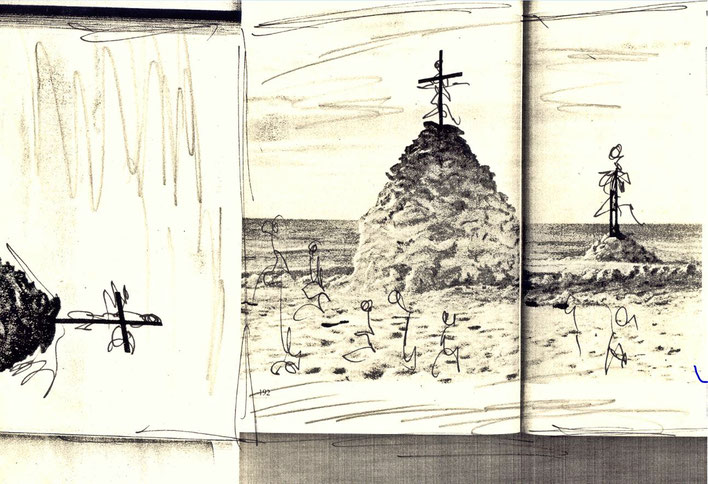 Pedro Meier – Entwurf für eine Landschaft – LandArt Projekt – »Near the California Desert« – Skizze Nr. 7  2003 Foto © Pedro Meier Multimedia Artist/ProLitteris Zürich, Visarte Kunstverein – Bangkok Art Group – Gerhard Meier-Weg Niederbipp Bern Oberaargau