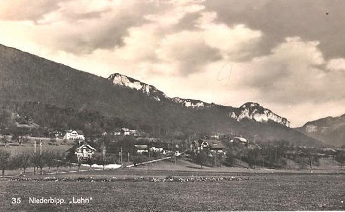 Niederbipp-Lehn alias Amrain – 1932 alte Postkarte (Lehnweg, Leen, Räberain, Rebenrain) – Archiv © Pedro Meier Multimedia Artist / ProLitteris Zürich – Gerhard Meier-Weg, Atelier – Niederbipp