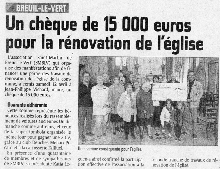 "18 avril 2014 - Journal ""Le Courrier Picard"""