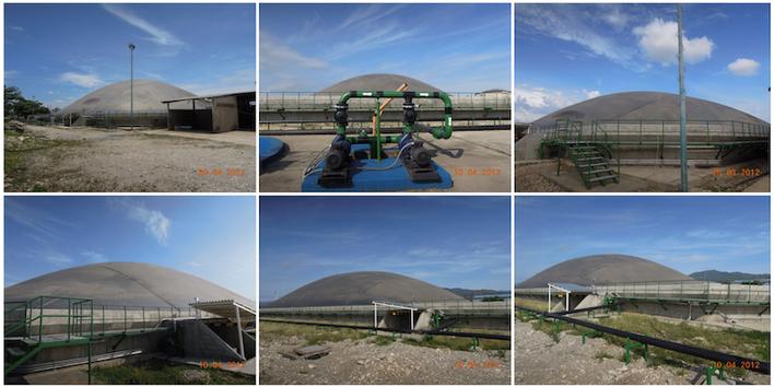 CSTR lagoon digester - biogas