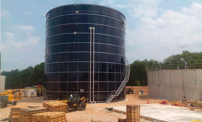 Enameled glass lined steel tanks