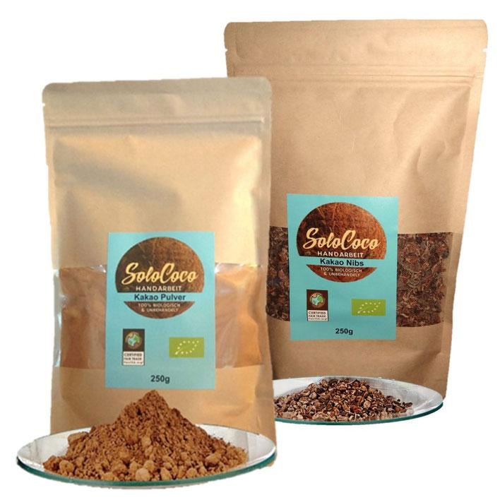 Kakaonibs, Kakaobruch, gebrochene Kakaobohnen, cacao, cacaopowder