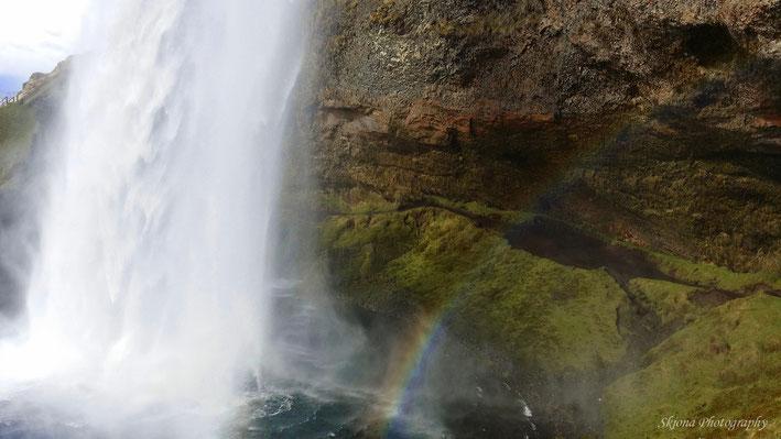 Hinter dem Wasserfall - Handybild
