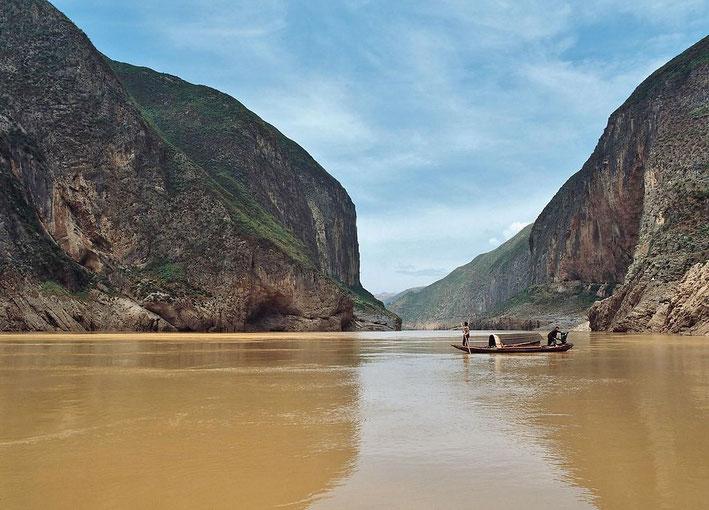 Den Gelben Fluss sehen wir bei Lanzhou (Bild aus dem Internet)