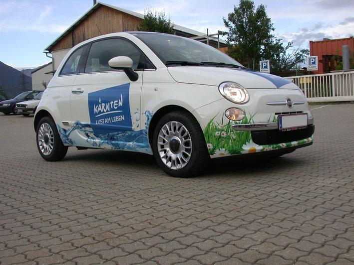 Kfz Teilbeklebungen im Digitaldruck und mit opaken Folien für Promotion Autos