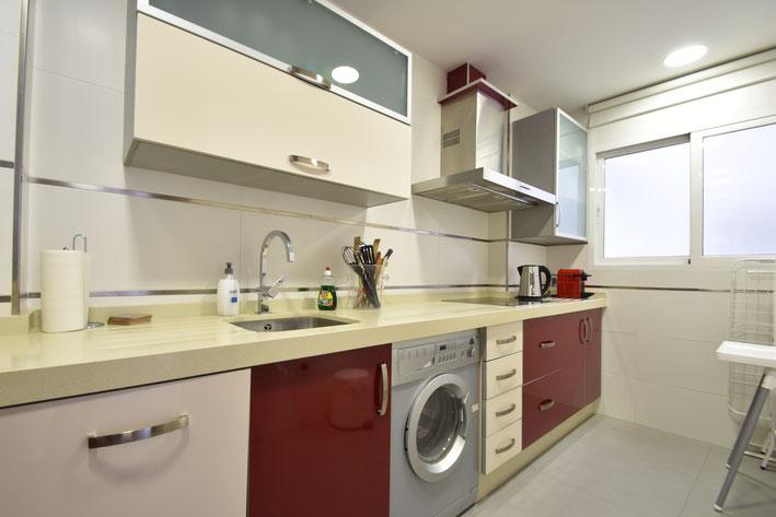 keuken overzicht appartement in Valencia