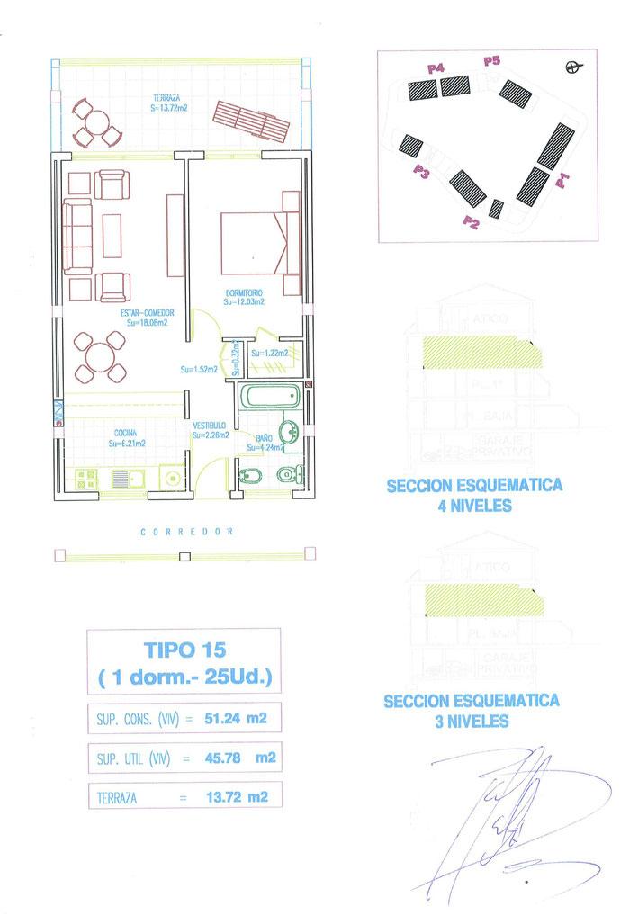 Grundriss von der Wohnung