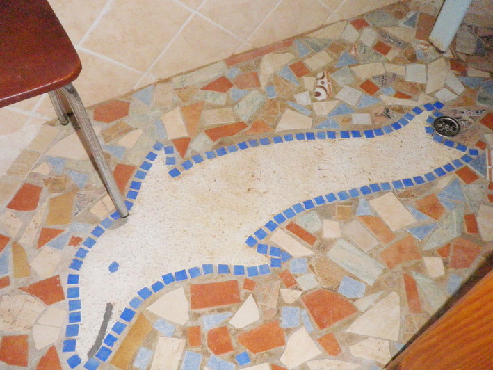 Mosaik in der Dusche