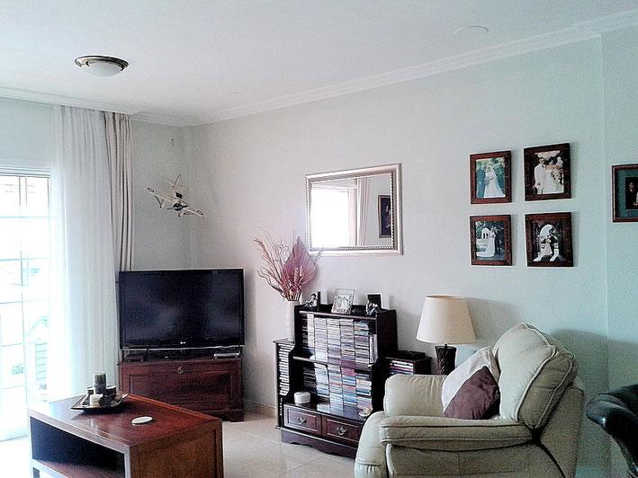 gemütlicher Fernsehbereich vom Wohnzimmer