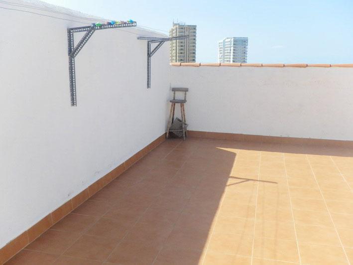 Trockenplatz auf der Dachterrasse