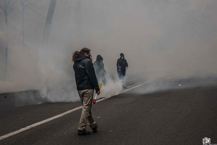 Manifestation de soutien aux cheminots Paris 22 Mars 2018 Léo Derivot Photographe