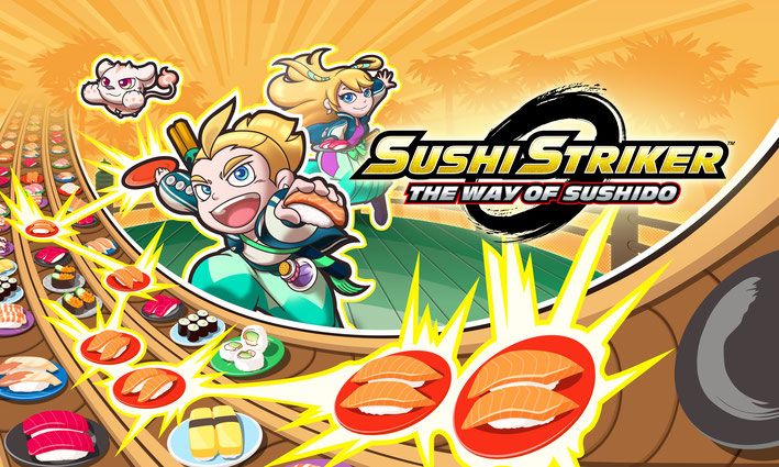 Sushi Striker, Sushido, Switch, 3DS, Nintendo, Jinrai, Penzo, Ghozo, Teller, Musashi, Wasabi, Republik, Franklin, Ara-O, Kodiak, Fisch, Japan, Sashimi, Maki, Reis, Lachs, Nori