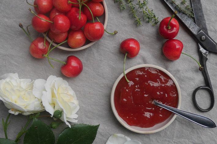 Kirsch-Tymian-Marmelade