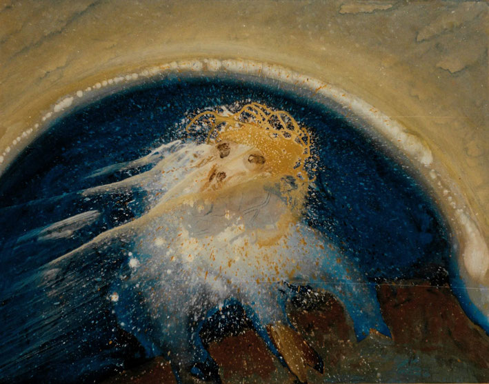 Geheime Offenbarung - Acryl auf Leinwand,  1994 (90x110)