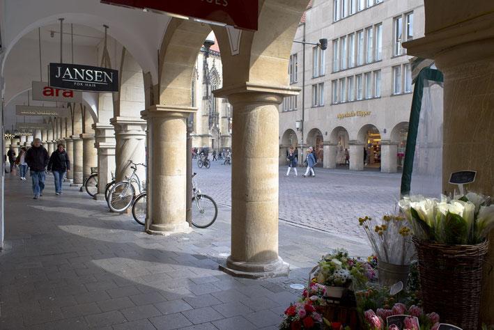 Bogengänge am Prinzipalmarkt, spätes 13. Jhd.