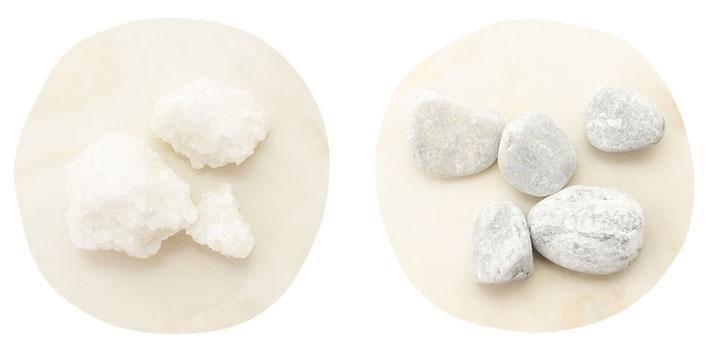 左:結晶質・右:非晶質