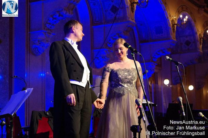 2015, Palais Ferstel Wien, Sopran Lucia Dziubinski und Tenor Alexander Pinderak